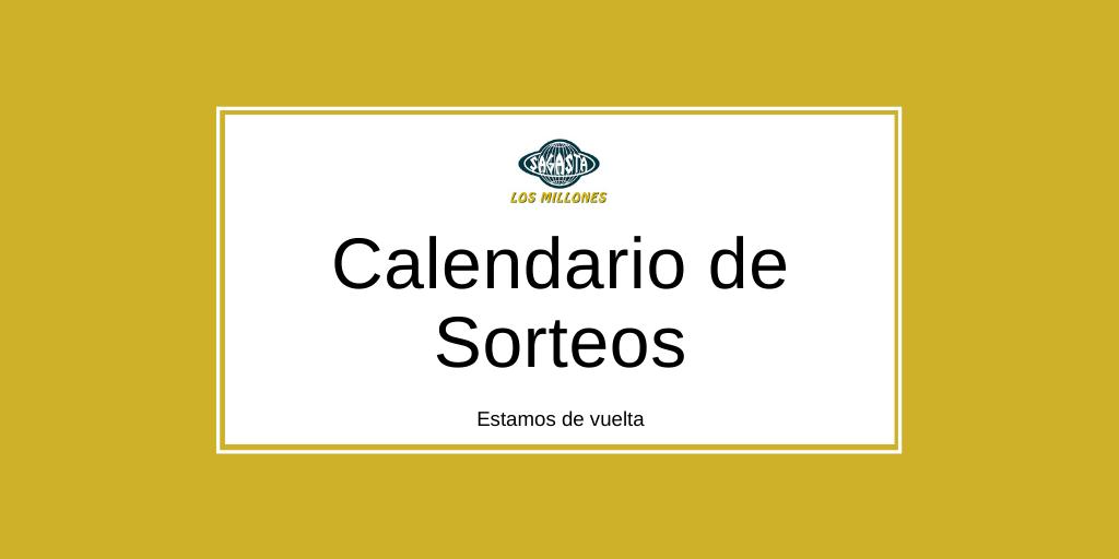 Caledario Lotería Nacional
